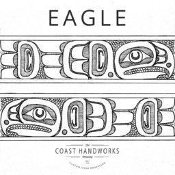 Native art spirit symbolizing focus, vision, strength, the prestige of leadership, power and knowledge.